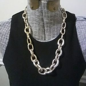 NWT Loft Gold Chain and Rhinestone Necklace